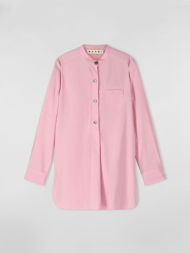 Marni Nehru-neck shirt in poplin  Woman - 2