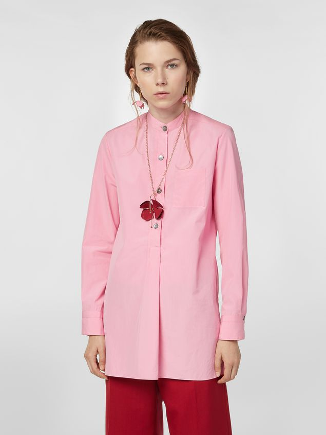 Marni Nehru-neck shirt in poplin  Woman - 1
