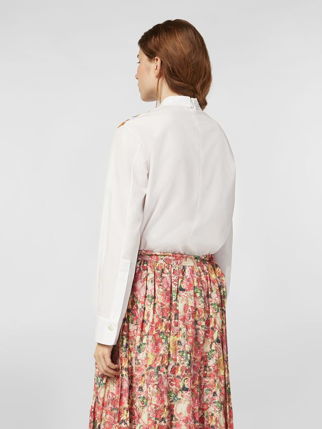 Marni Poplin shirt with Craven print Woman