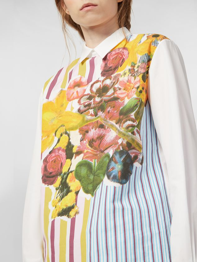 Marni Poplin shirt with Craven print Woman - 4
