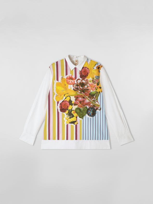Marni Poplin shirt with Craven print Woman - 2