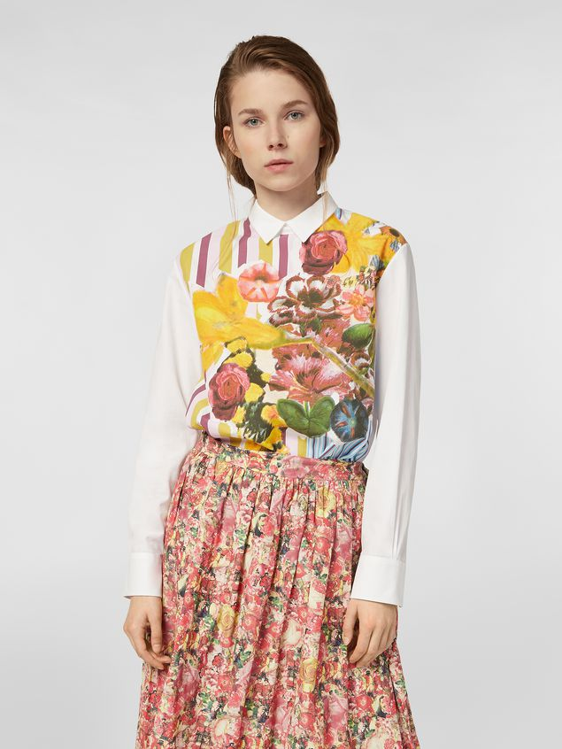 Marni Poplin shirt with Craven print Woman - 1