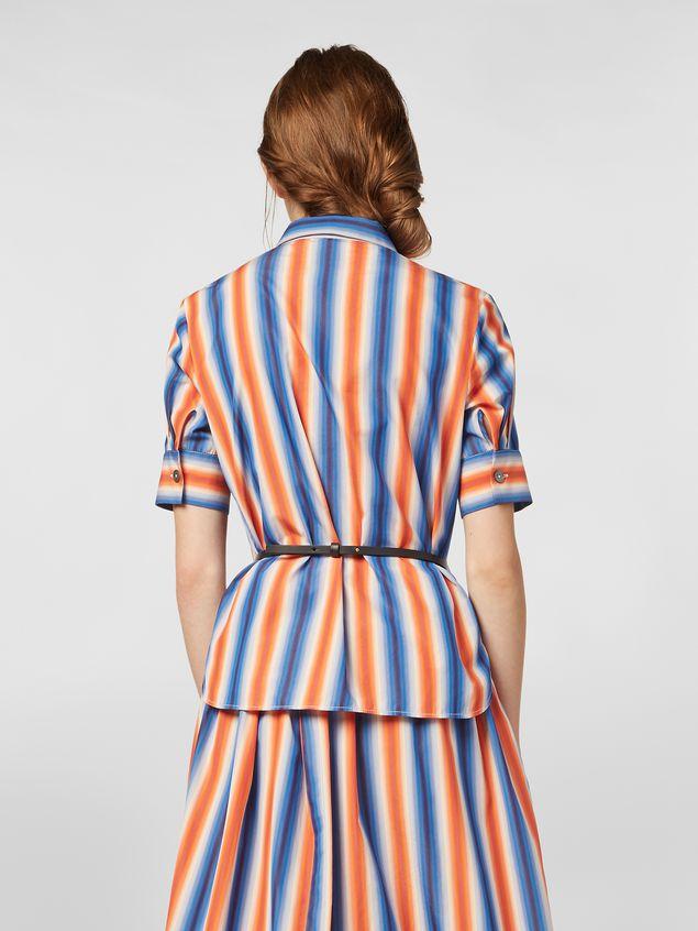 Marni Shirt in faded striped poplin Woman