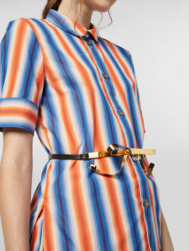 Marni Shirt in faded striped poplin Woman - 4