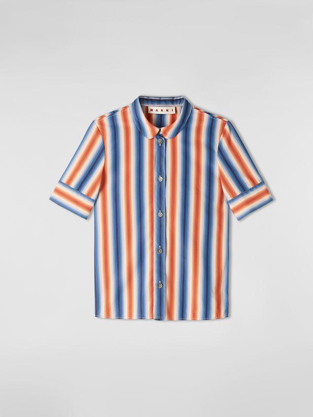 Marni Shirt in faded striped poplin Woman - 2