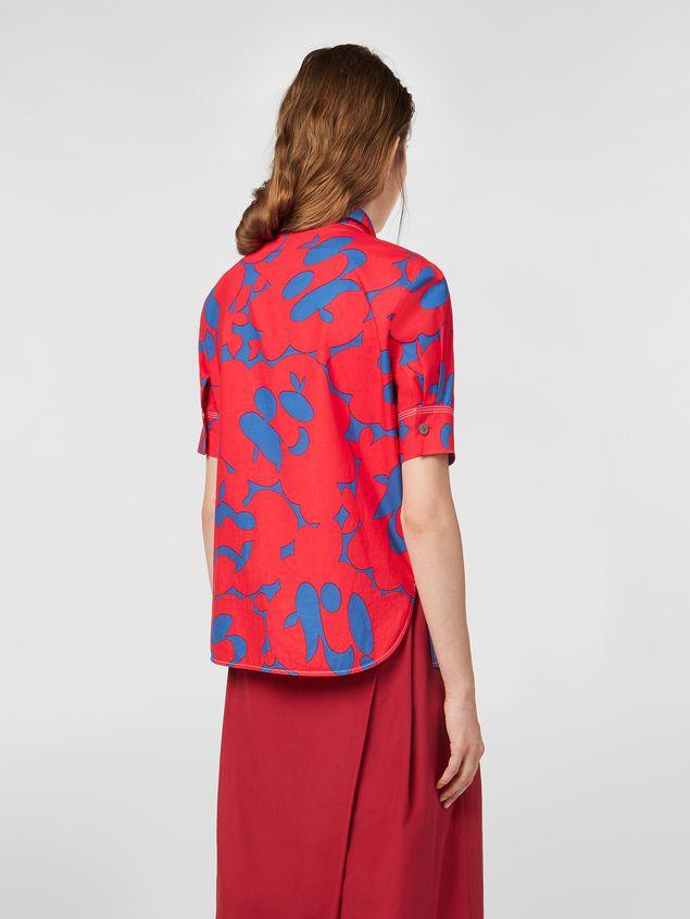 Marni Poplin shirt with Belou print Woman