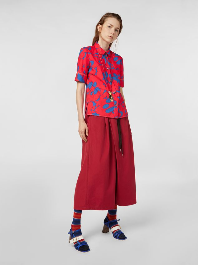 Marni Poplin shirt with Belou print Woman - 5