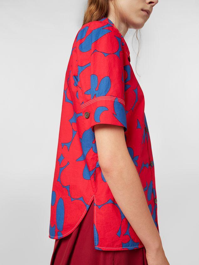 Marni Poplin shirt with Belou print Woman - 4