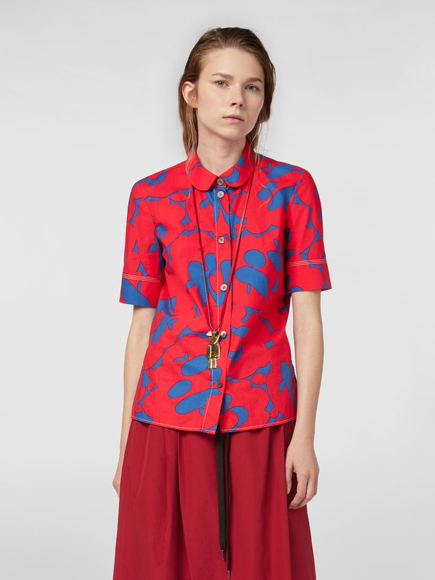 Marni Poplin shirt with Belou print Woman - 1