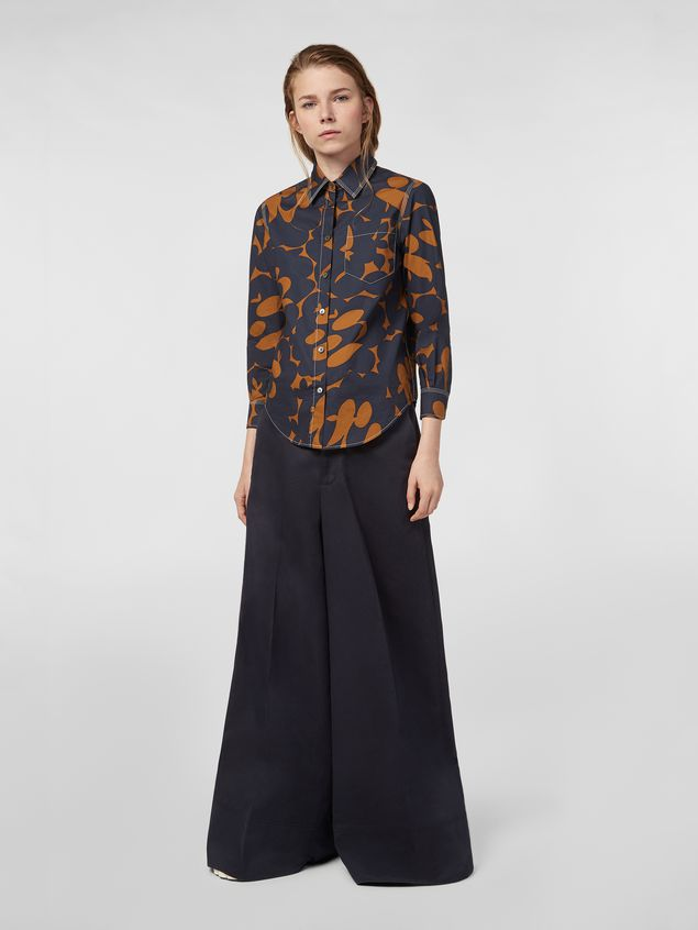 Marni Poplin shirt with Belou print and chest pocket Woman - 5