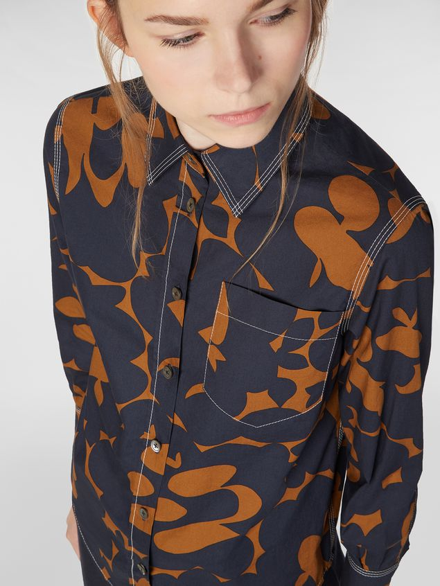 Marni Poplin shirt with Belou print and chest pocket Woman - 4