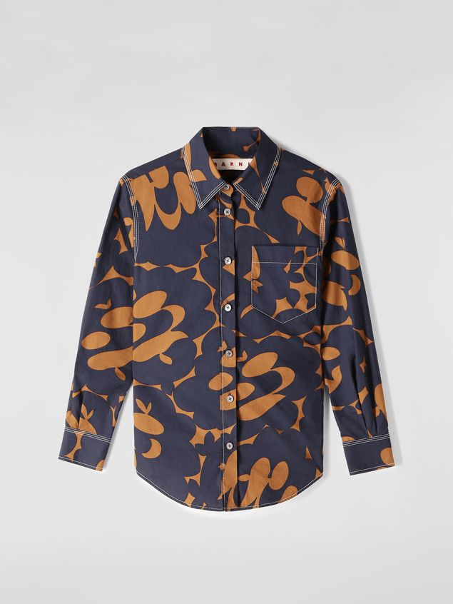 Marni Poplin shirt with Belou print and chest pocket Woman - 2
