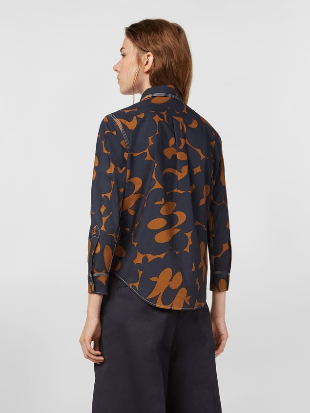 Marni Poplin shirt with Belou print and chest pocket Woman - 3