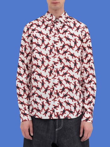 Marni Classic shirt in poplin with Dance Bunny print Man