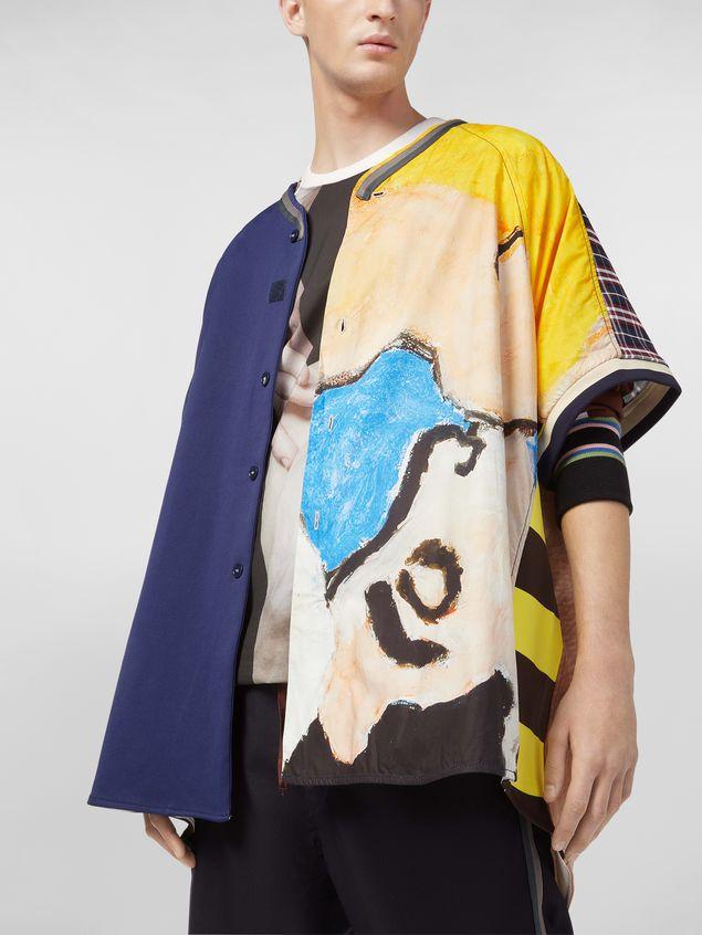 Marni Camicia patchwork in cotone tecnico con stampa artista Betsy Podlach Uomo - 5