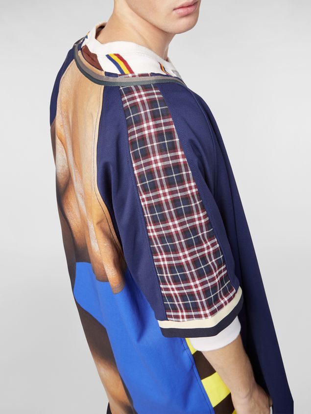 Marni Patchwork shirt in techno cotton with print by artist Betsy Podlach Man - 4