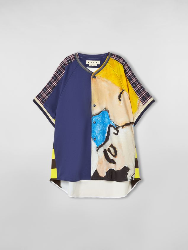 Marni Patchwork shirt in techno cotton with print by artist Betsy Podlach Man - 2