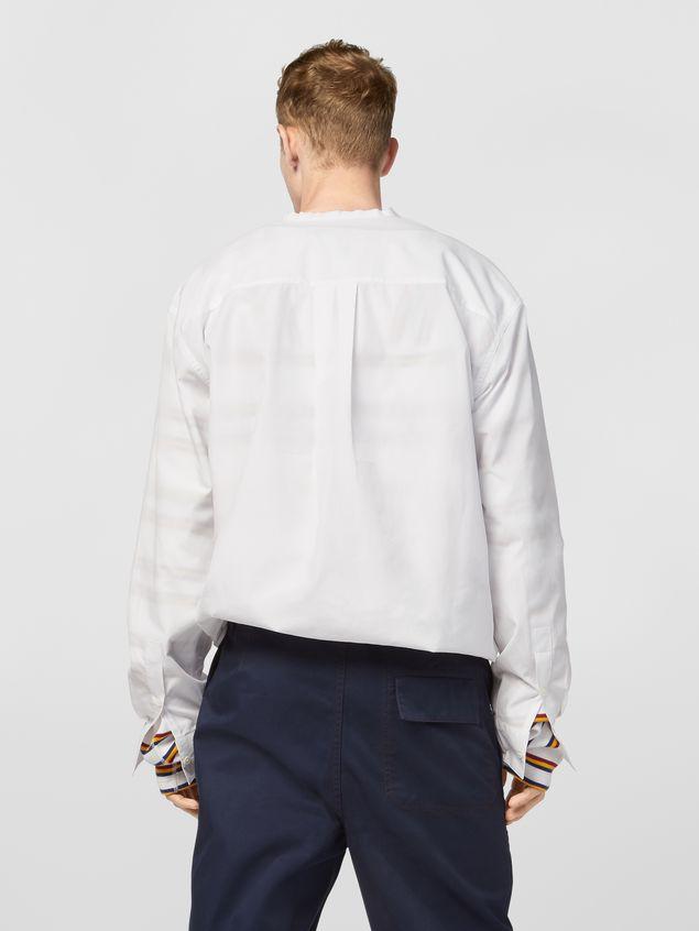 Marni Shirt in cotton poplin with lacing closure Man