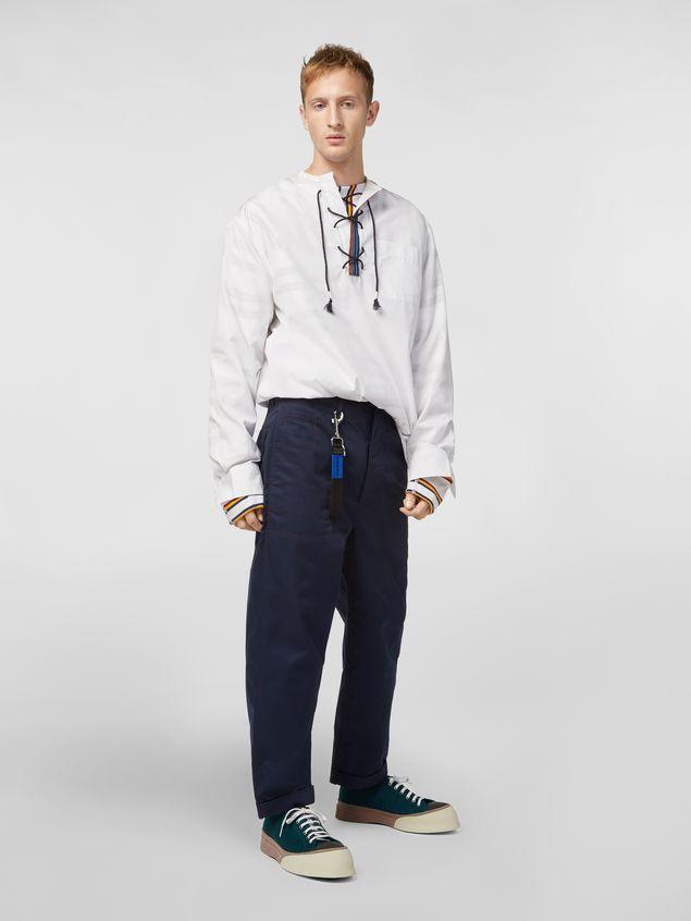 Marni Shirt in cotton poplin with lacing closure Man - 5