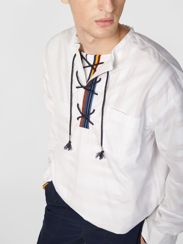 Marni Shirt in cotton poplin with lacing closure Man - 4