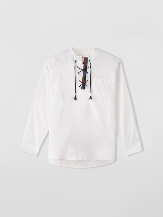 Marni Shirt in cotton poplin with lacing closure Man - 2