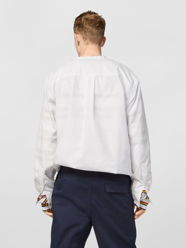 Marni Shirt in cotton poplin with lacing closure Man - 3