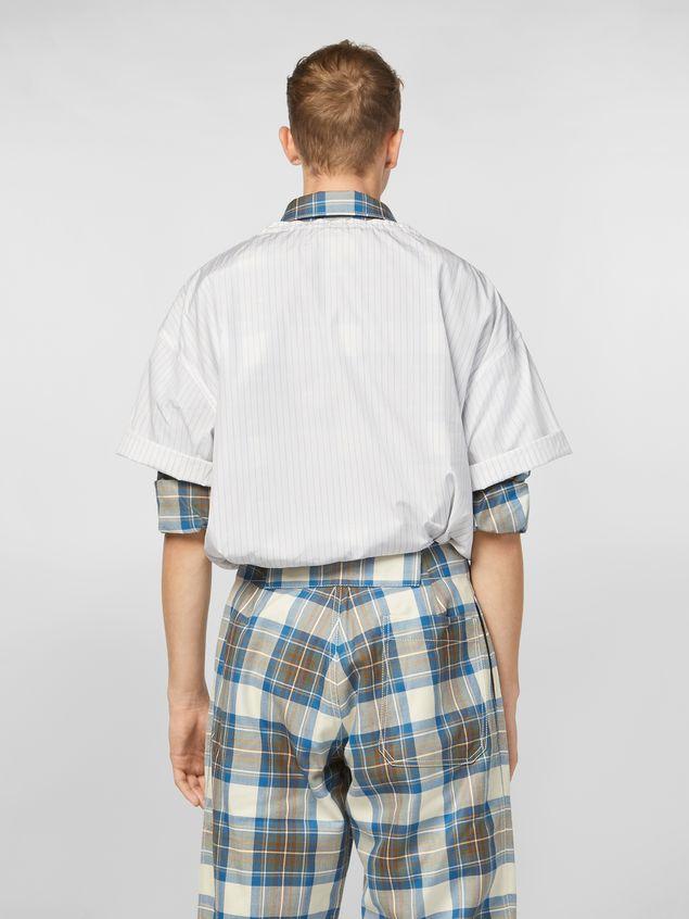 Marni Shirt in striped cotton poplin with drawstring Man