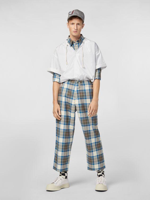 Marni Shirt in striped cotton poplin with drawstring Man - 5