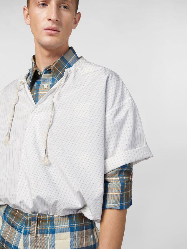 Marni Shirt in striped cotton poplin with drawstring Man - 4