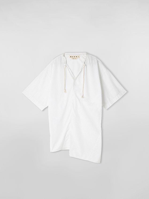 Marni Shirt in striped cotton poplin with drawstring Man - 2