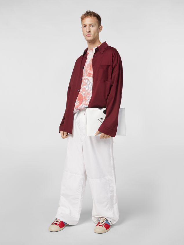 110085fcee2 MARNI Long Sleeve Shirt Man Shirt in lightweight cotton poplin with unfinished  borders a