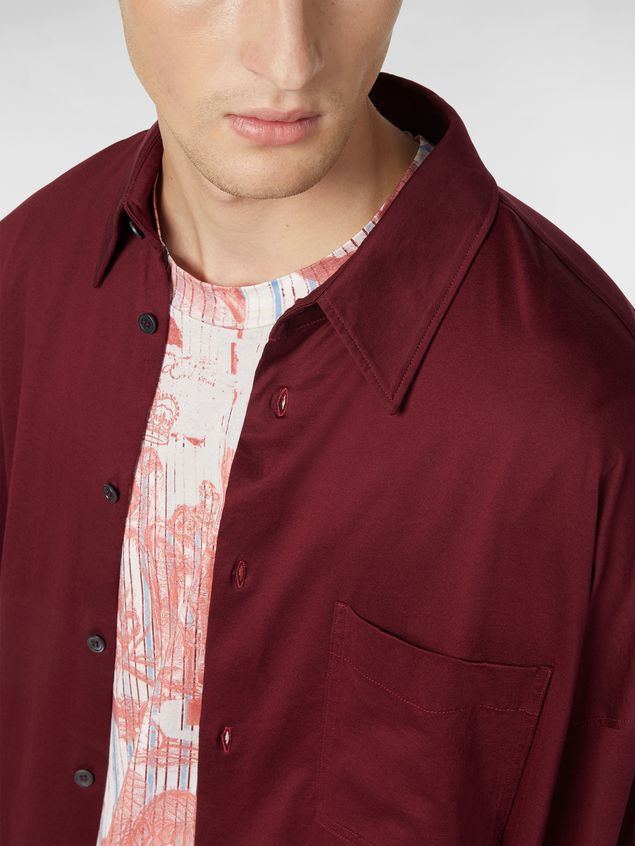 Marni Shirt in lightweight cotton poplin with unfinished borders Man - 4