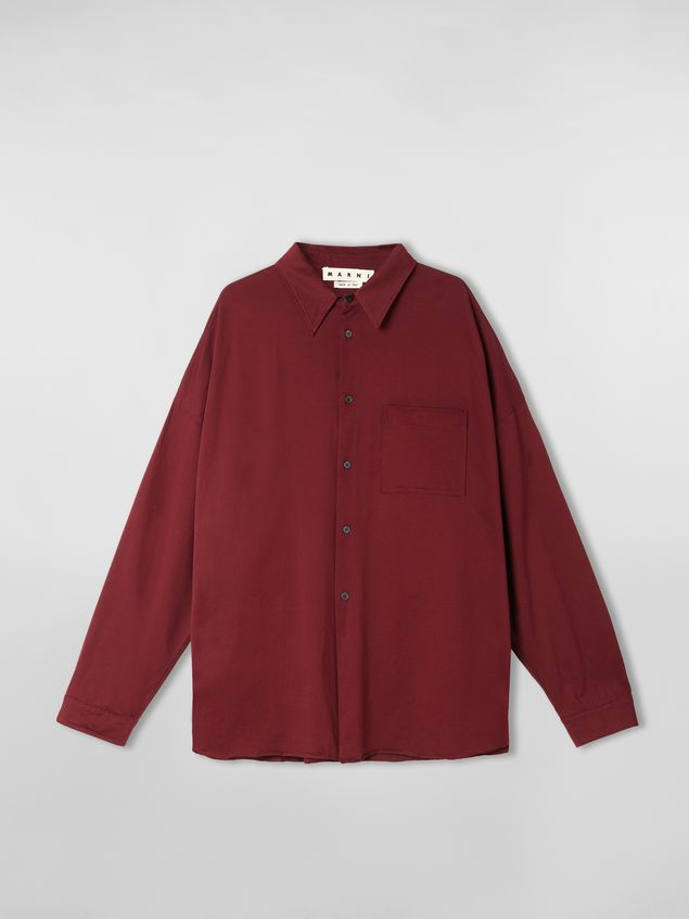 Marni Shirt in lightweight cotton poplin with unfinished borders Man - 2