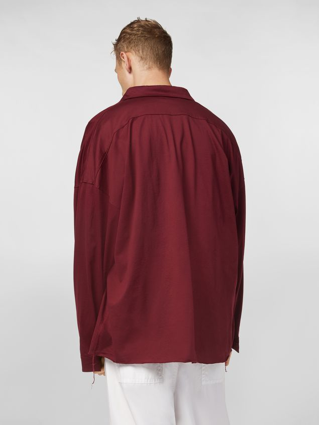 Marni Shirt in lightweight cotton poplin with unfinished borders Man - 3