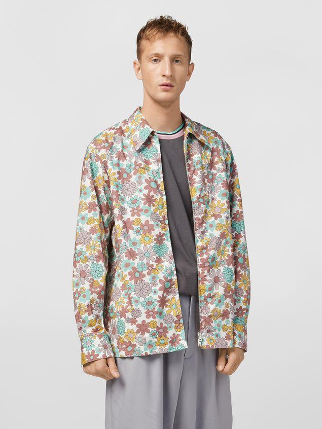 Marni Shirt in cotton poplin Clarabella print Man - 1