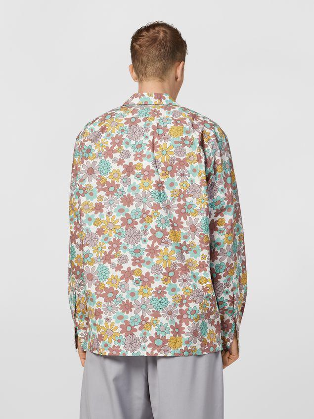 Marni Shirt in cotton poplin Clarabella print Man - 3