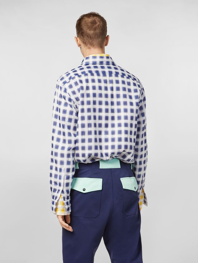 Marni Shirt in yarn-dyed double plaid cotton voile Man - 3