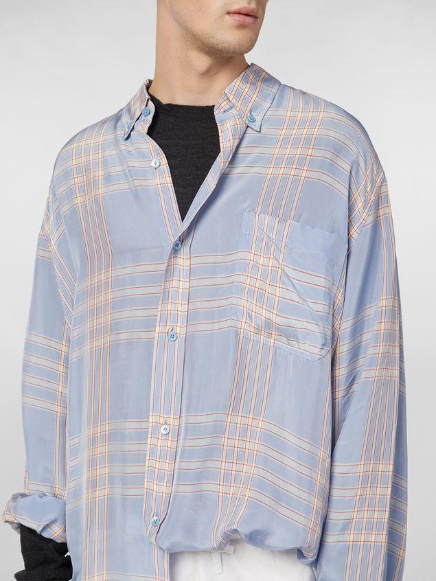 Marni Extra-long shirt in macro plaid viscose Man - 4