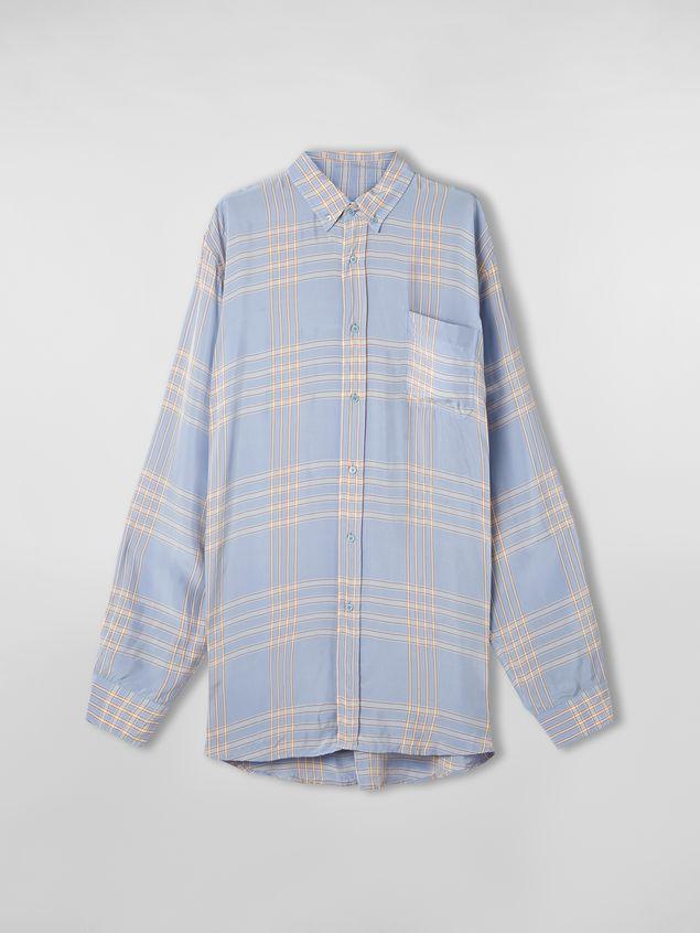 Marni Extra-long shirt in macro plaid viscose Man - 2