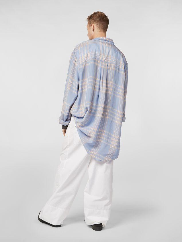 Marni Extra-long shirt in macro plaid viscose Man - 3