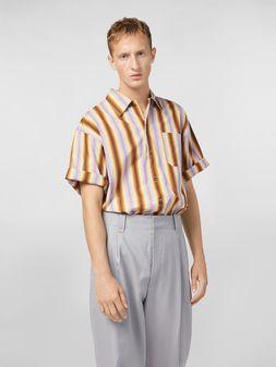 Marni Shirt in degrading striped poplin with chest pocket Man