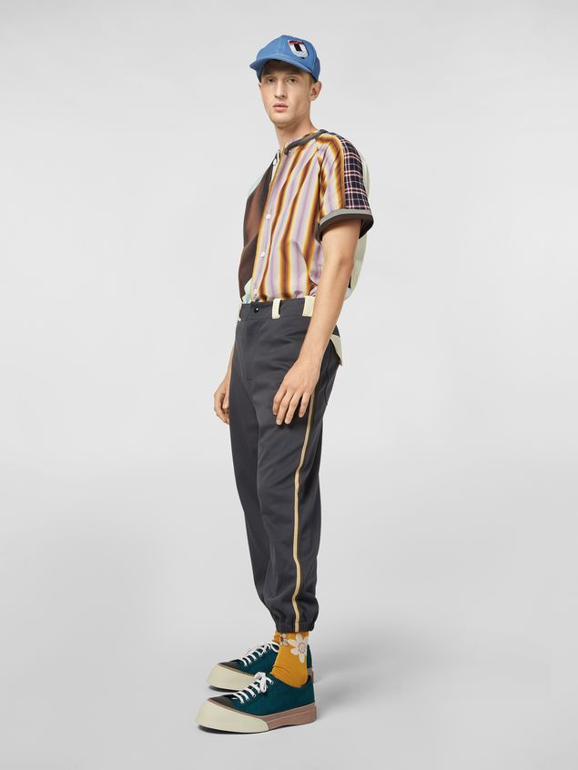 Marni Patchwork shirt in techno cotton with print by Florian Hetz Man - 5
