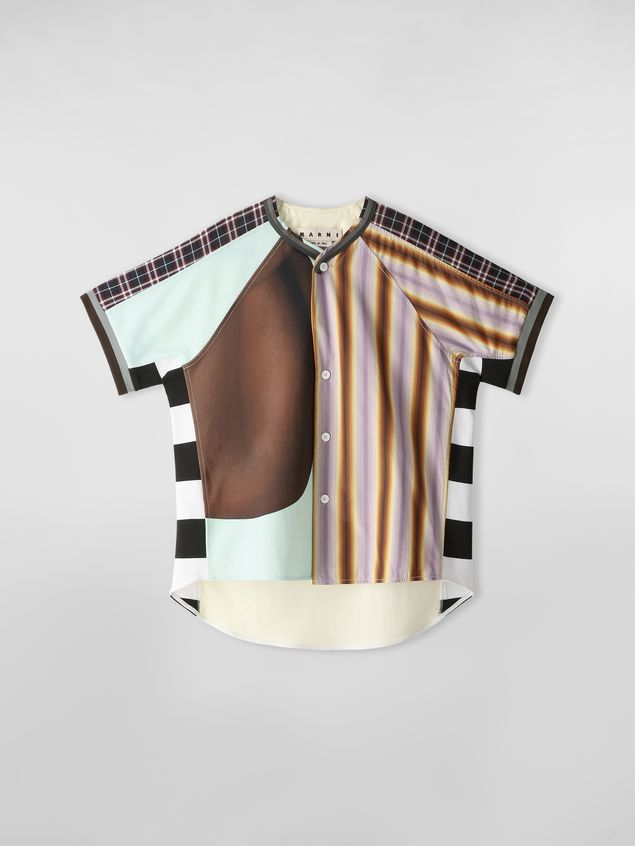 Marni Patchwork shirt in techno cotton with print by Florian Hetz Man - 2