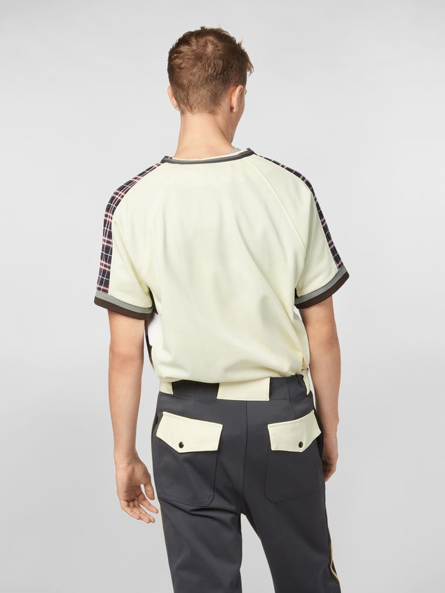 Marni Patchwork shirt in techno cotton with print by Florian Hetz Man - 3
