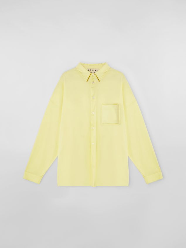Marni Shirt in lightweight cotton poplin with unfinished yellow borders Man - 2