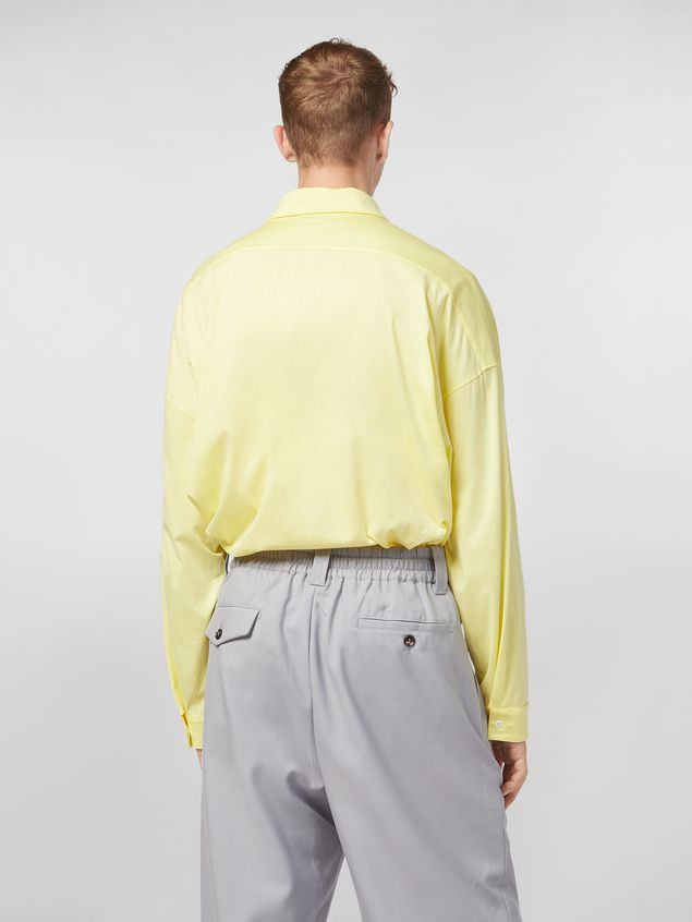 Marni Shirt in lightweight cotton poplin with unfinished yellow borders Man - 3