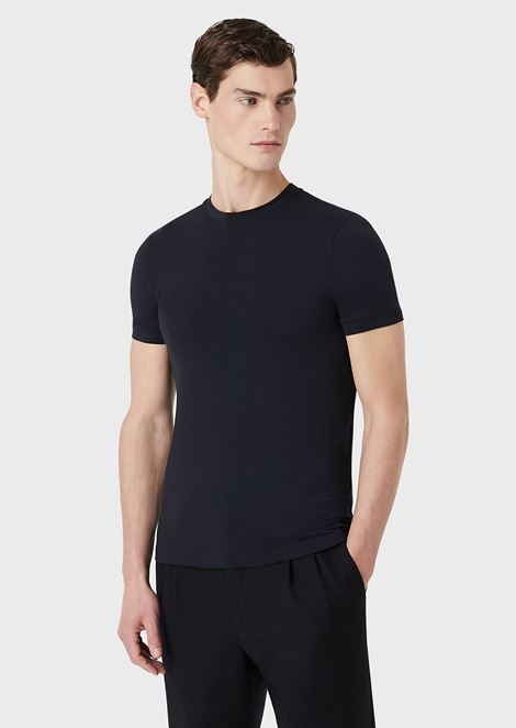 Stretch jersey crew neck t-shirt