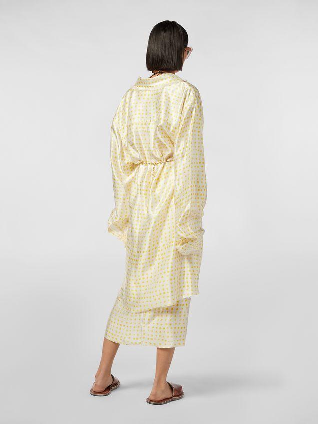 Marni Frayed shirt in rayon satin Cerere print Woman
