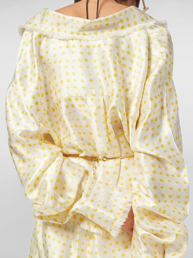 Marni Frayed shirt in rayon satin Cerere print Woman - 5