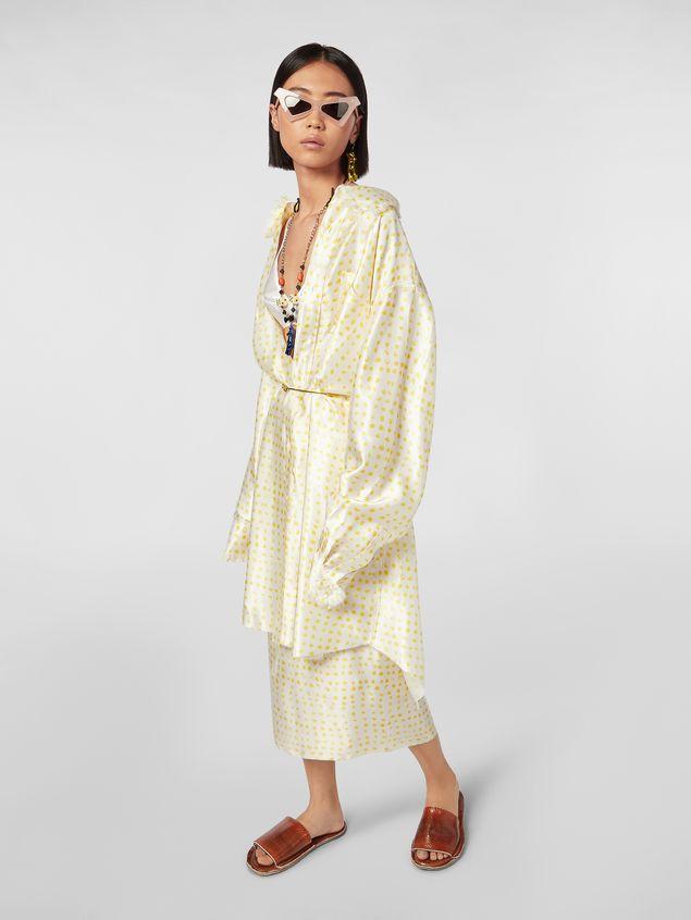 Marni Frayed shirt in rayon satin Cerere print Woman - 1